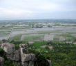 Cảnh đẹp nhìn từ núi Ba Thê