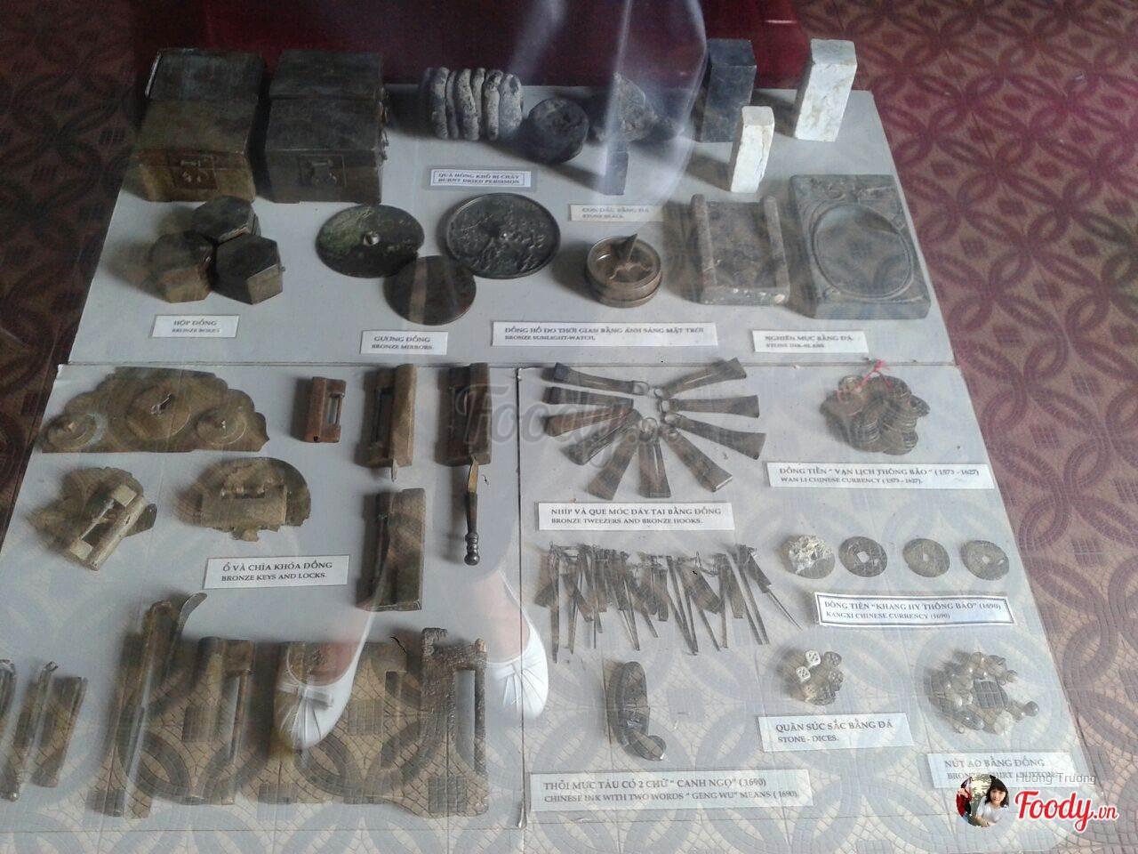 Hiện vật lịch sử tại Bạch Dinh
